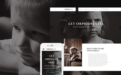 Orphans Website Template Orphanage Website Templates Free