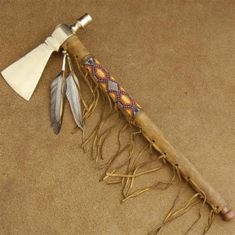 native american tomahawk peace pipe