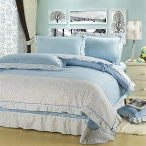 Pale Blue Bedding Sets 4 Wonderful Light Blue Bedding Sets With Lace