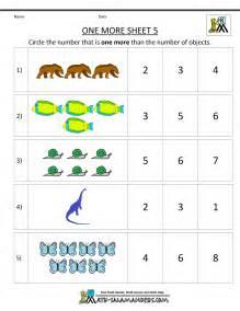 kindergarten math worksheets printable one more