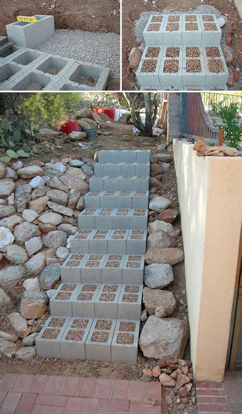 step by step diy garden steps and stairs the garden glove 5 ways to use cinder blocks in the garden the garden glove