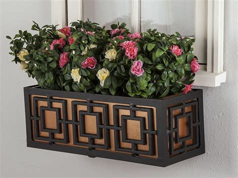 metal window box planters for small spaces windowbox