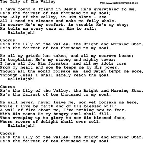 song of velly baptist hymnal christian song the of the valley