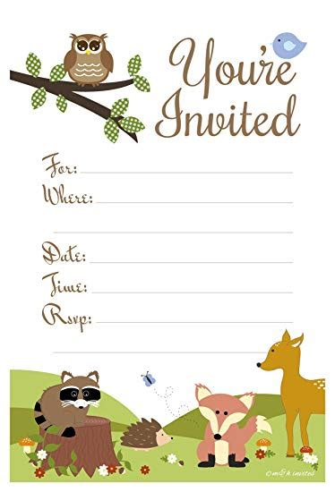 Woodland Birthday Party Invitations Birthday Wikii Woodland Invitation Template