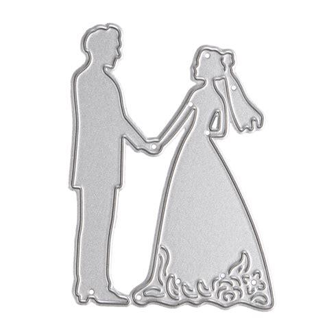 1pc metal cutting dies stencil 1pc groom wedding metal cutting dies stencils