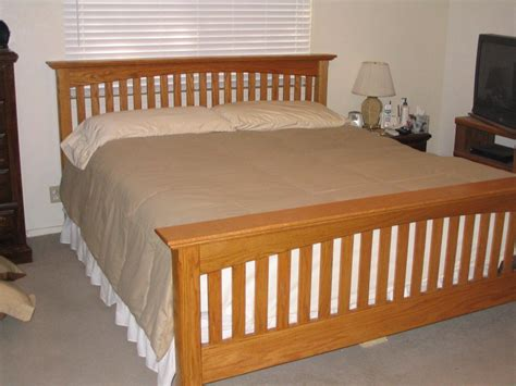 mission style beds mission style king bed by woodman2x4 lumberjocks com