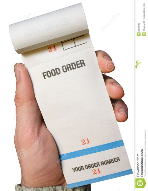 order a holding a food order pad stock photo image 2340880