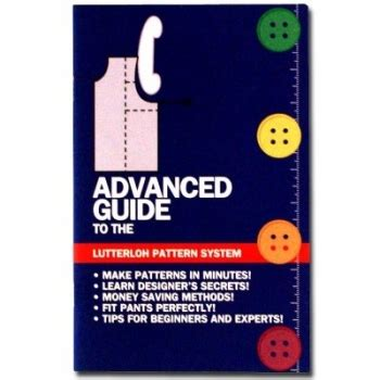 guide to patternmaking advanced guide for lutterloh pattern making system tru
