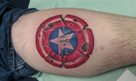 captain america shield tattoo 35 captain america designs for and