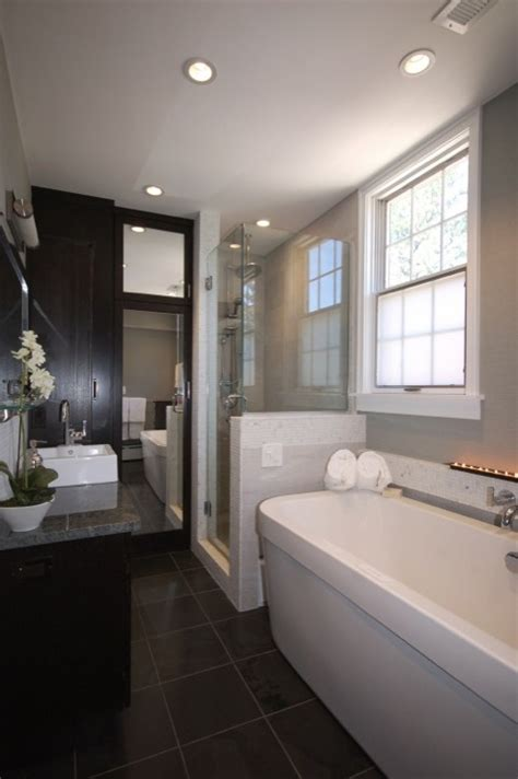 narrow master bathroom contemporary bathroom ideas contemporary bathroom