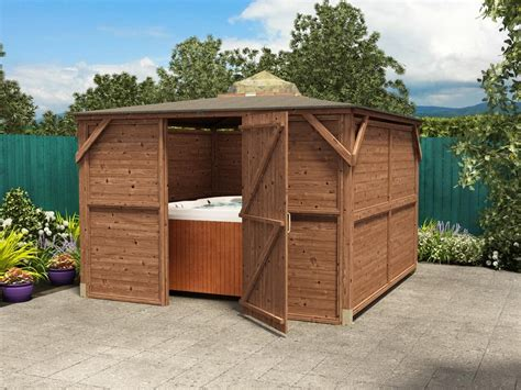 Sheds For Tubs by Erin Gazebo Enclosed Solid Wall Panels Gazebos