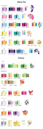 what is my color my pony friendship is magic color guide by