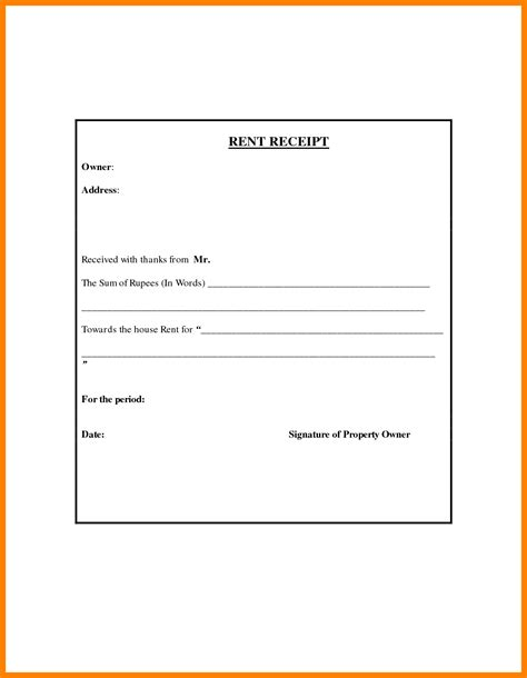 Rent Receipt Template Word Document India by 10 India Rent Receipt Format Time To Regift