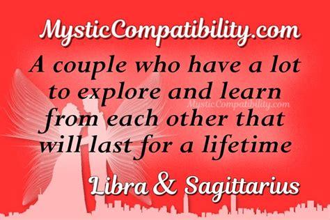 libra sagittarius compatibility mystic compatibility
