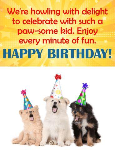 dog themed birthday ecards celebrating dog happy birthday card for kids birthday