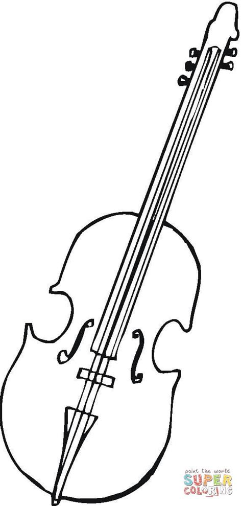 viola for orchestra coloring page free printable