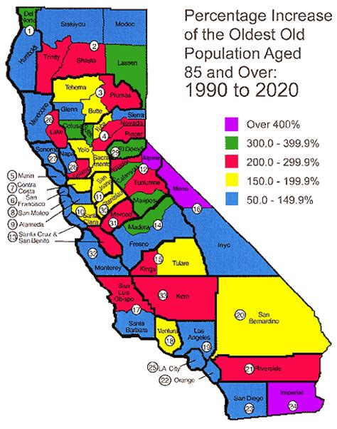 california map facts facts about california s elderly data statistics