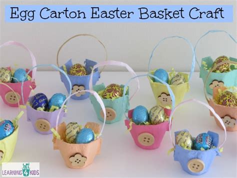 easter basket craft egg carton easter basket craft learning 4 kids