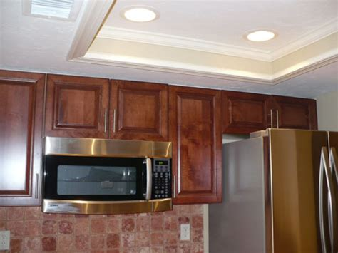 kitchen tray ceiling lighting ideas