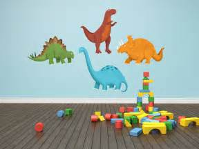 Wall Stickers Dinosaurs Dinosaur Decals Dinosaur Wall Decals 4 Piece Set By Krankykrab