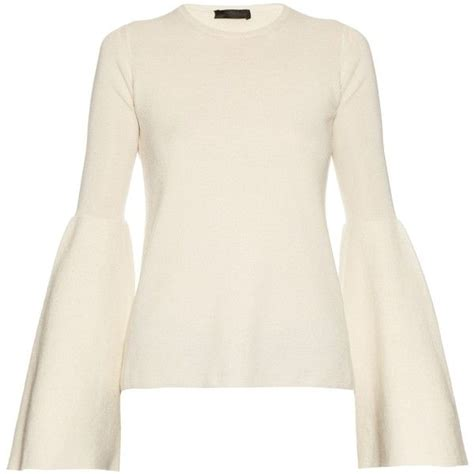 Bell Sleeve Wool Blend Knit Top 1052 best polyvore images on gloves