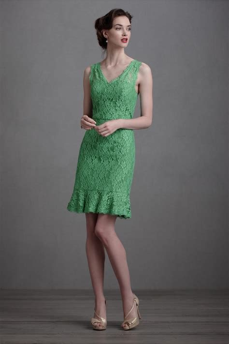 Lace Dress Green green lace bridesmaid dress bhldn onewed