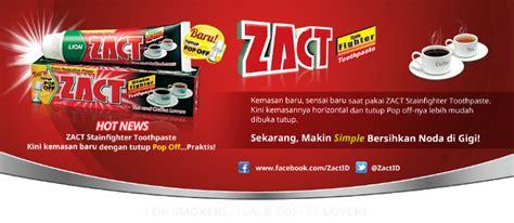 Pasta Gigi Zact Di Indo zact pasta gigi keren buat ngilangin bekas kopi dan teh