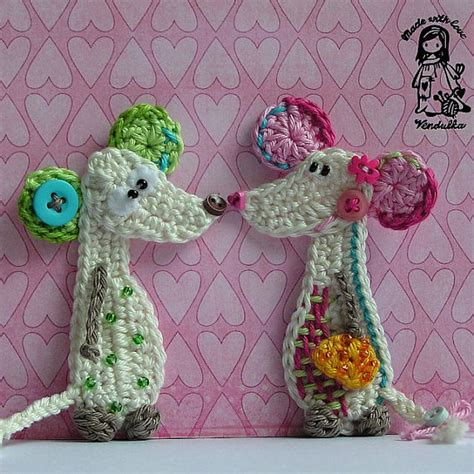 mouse pattern etsy crochet pattern mouse applique diy by vendulkam on etsy
