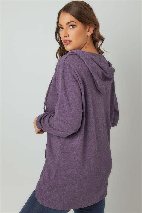 Sweater Casual Fashion Pria Model Purple Indigo Bottom Black List 694 purple zip through hoodie with pockets plus size 16 to 36