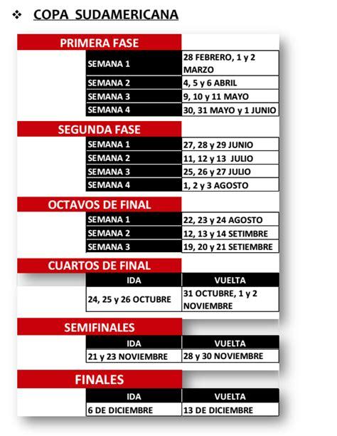 Calendario Copa Conmebol Anuncia Datas De Libertadores E Copa Sul Americana