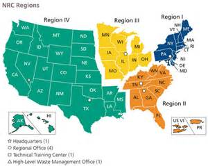 us map broken by regions nrc region i is number 1 union of concerned scientists