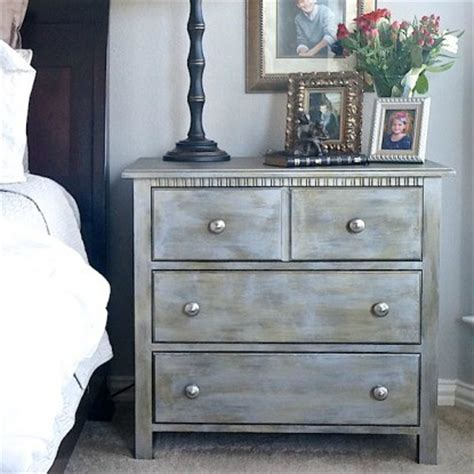 metallic nightstand makeover diy furniture makeovers