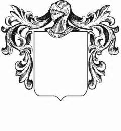 Crest Designs Outline by Blank Family Crest Template Cliparts Co