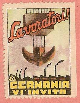 ufficio di collocamento in germania storia postale italiana