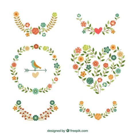 floral decoration vector free