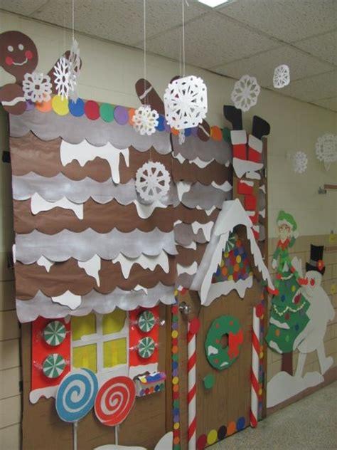 gingrbread house on school door gingerbread house winter classroom door decorations holidays classroom