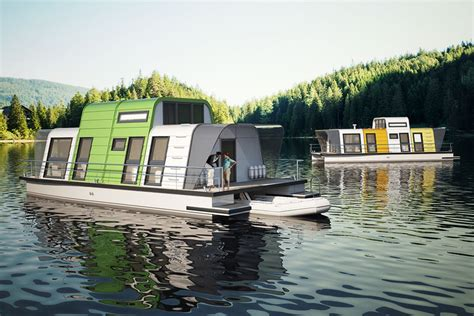prefab houseboat design   assembled   days curbed