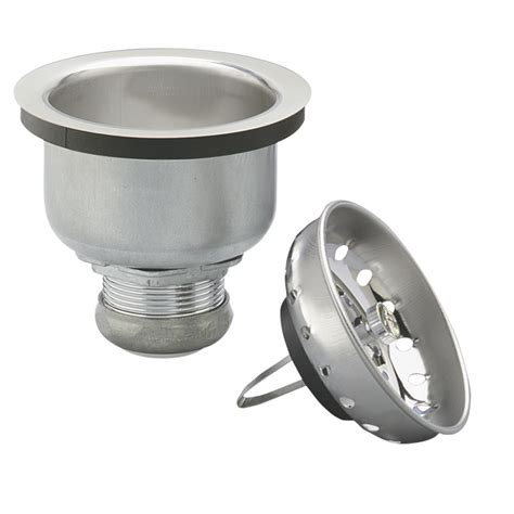 kitchen sink basket strainers shop keeney mfg co 3 5 in chrome stainless steel kitchen