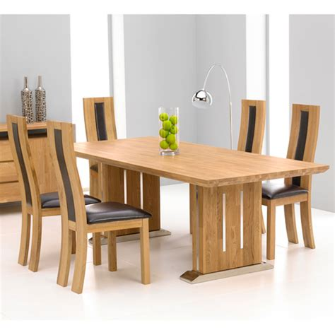 6 Seater Oak Dining Table And Chairs Cagliari Oak Dining Table And 6 Dining Chairs 13366