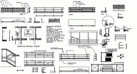 barandilla bloque autocad librer 237 as de bloques autocad barandillas de borde de forjado