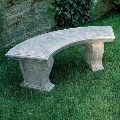 stone curved garden bench ideas for small curved stone benches in a garden