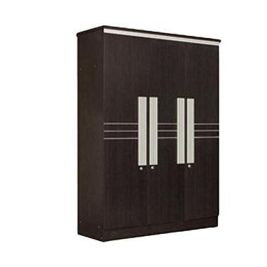 Lemari Pakaian 3 Pintu Expo Lp 2103 Walnut jual lemari pakaian kaca 3 pintu harga promo diskon