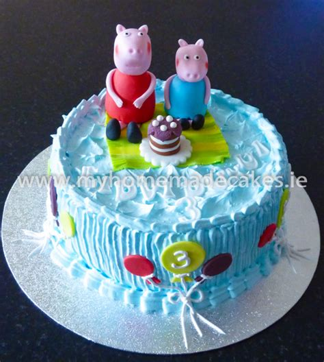 Homemade Home Decorations by Peppa Pig Cake My Homemade Cakes