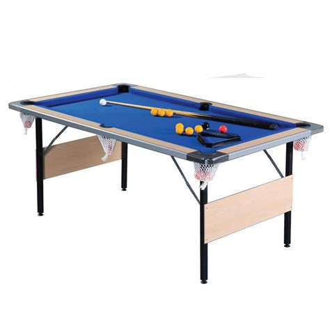 6ft Folding Pool Table Supreme Deluxe Foldaway 7ft Pool Table Beech Snooker Shop