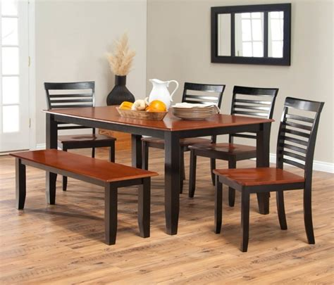 Cherry Wood Dining Room Table by Dining Bench Sets Amish Furniture Dining Room Table Amish