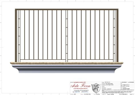 altezza ringhiera balcone parapetto in ferro battuto 201