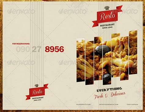 30  Food Menus Templates for Café and Restaurants   Ginva