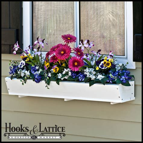 wood window box tapered cedar wood window box promises grey tones