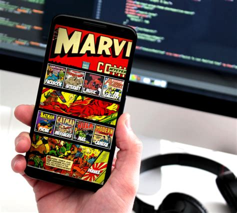 theme line android marvel marvel comics android theme by homebridge on deviantart