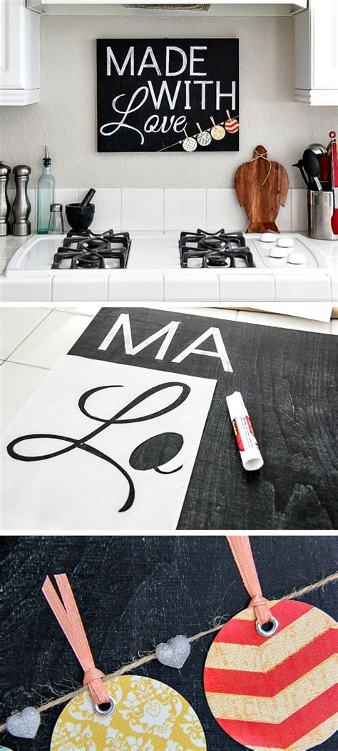 diy home decor signs simple diy kitchen decoration ideas 8 chalkboard kitchen